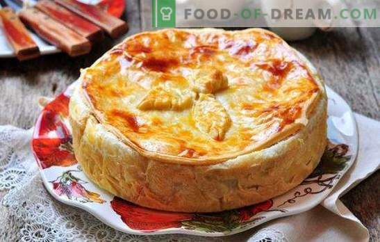 Kurnik with chicken and shortbread dough: 6 recipes. How to cook chicken chicken and shortbread dough quickly