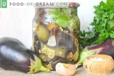 Pickled eggplants for the winter