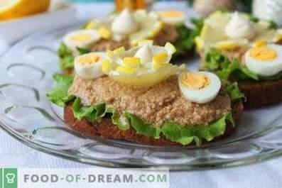 Cod liver sandwiches