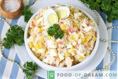 How to cook a salad of crab sticks