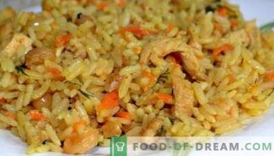 Chicken pilaf in a multicooker