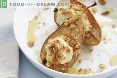 Pears baked in a slow cooker
