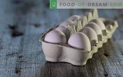 Combien d'œufs sont stockés dans le réfrigérateur et sans